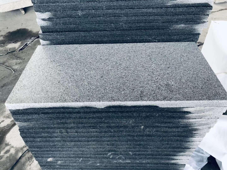 Flamed China Black G654 Granite Tiles