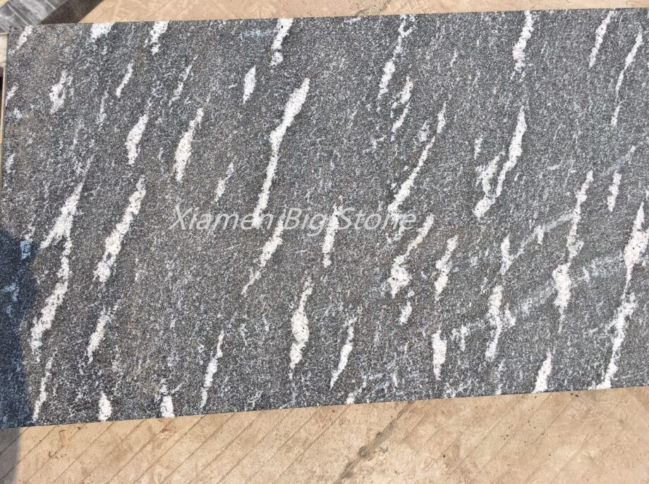 Flamed Snow Grey Granite Tiles