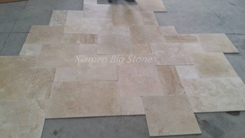 French Pattern Travertine Floor Tiles