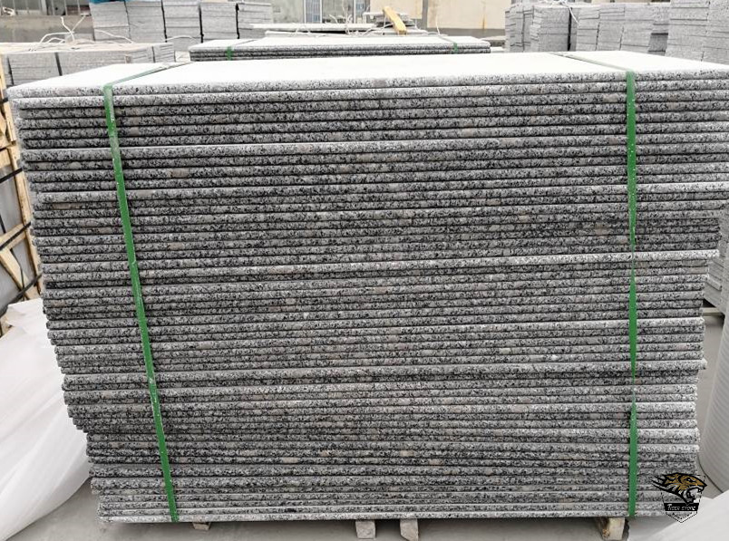 G383 Round Edge Granite Steps and Risers and Slabs