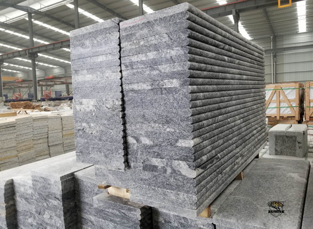 Duke White Polished Granite Stairs Full Bullnose