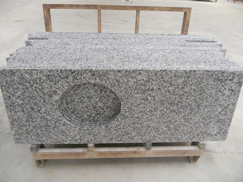 Cheap China White Flower Granite G439 Vanity Tops