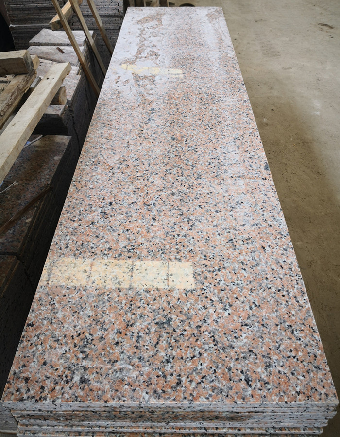 China Pink Porino G460 Polished Granite Slabs Bath Kitchen Tops