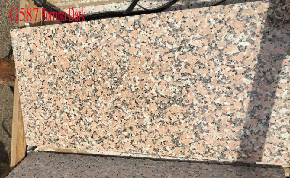 Porrino Dark G587 Pink Granite Polished Tiles