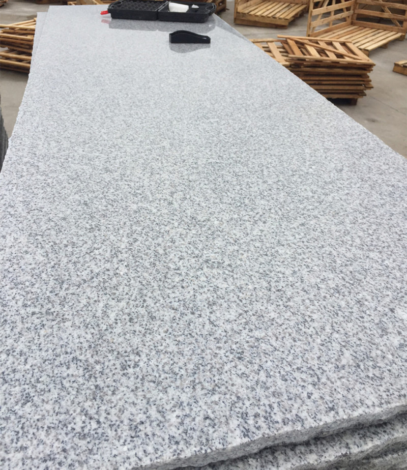G603 White Grey Granite Slabs Polished Finish