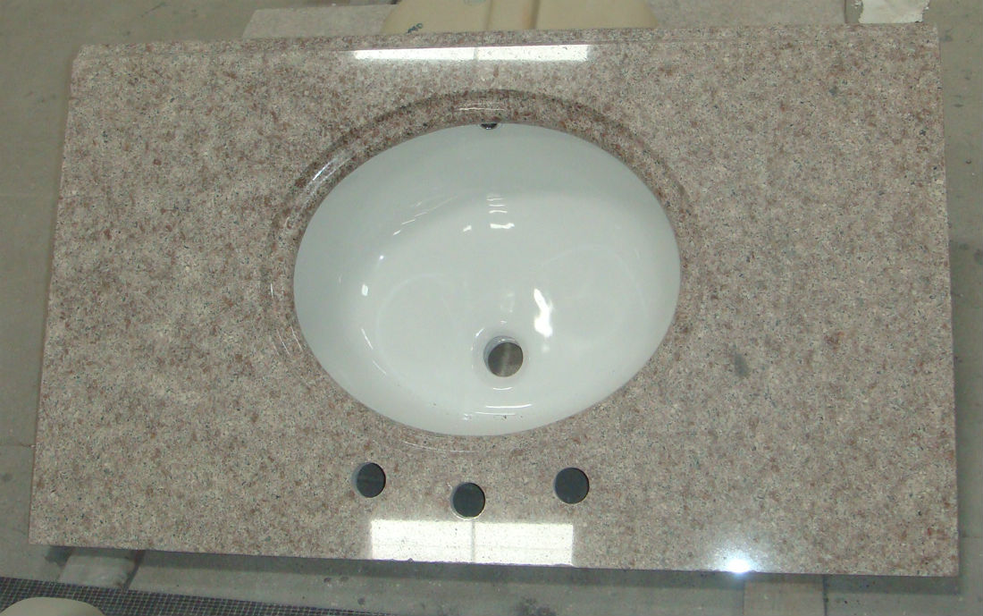 G611 Almond Mauve Purple Granite Vanity Tops