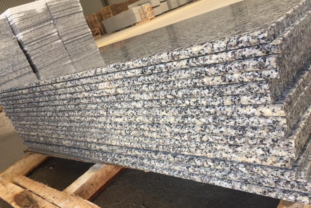 Macheng G602 Grey Granite Bath Kitchen Tops Slabs with Bullnose