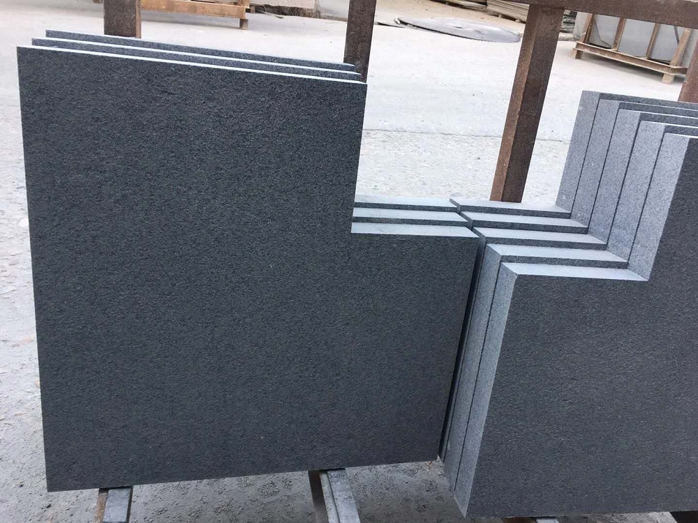 Granite pool panel coping