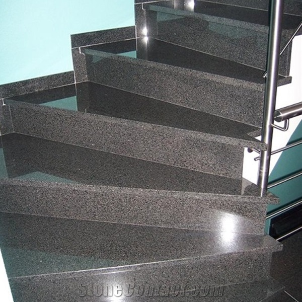 professional manufacturer G654 light grey granite steps and risers