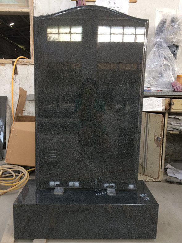 Cheap G654 Ogee Top Headstone from Xiamen Linstone
