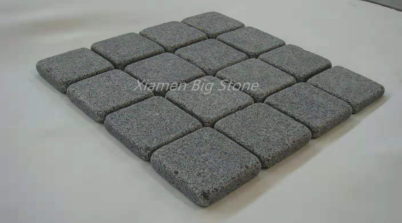 Tumbled G654 Grey Granite Outdoor Pavers Cube Stone