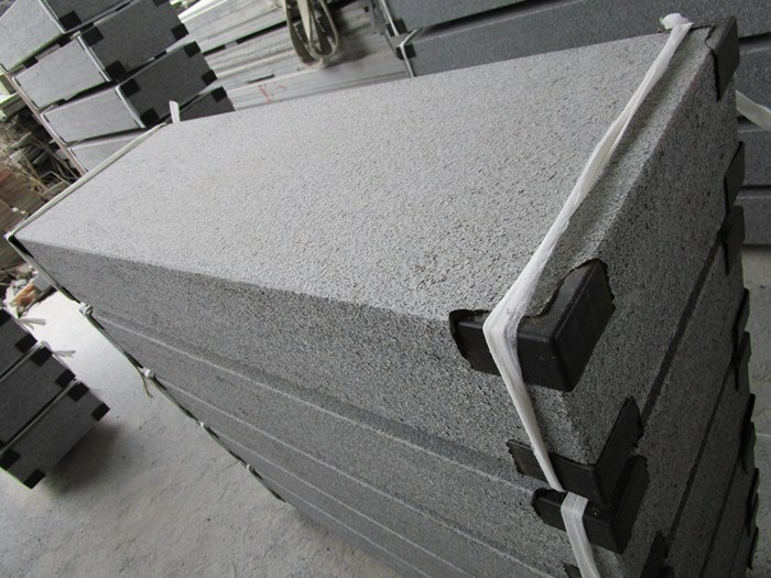 dark grey G654 kerbstone