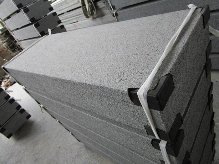 dark grey G654 kerbstone