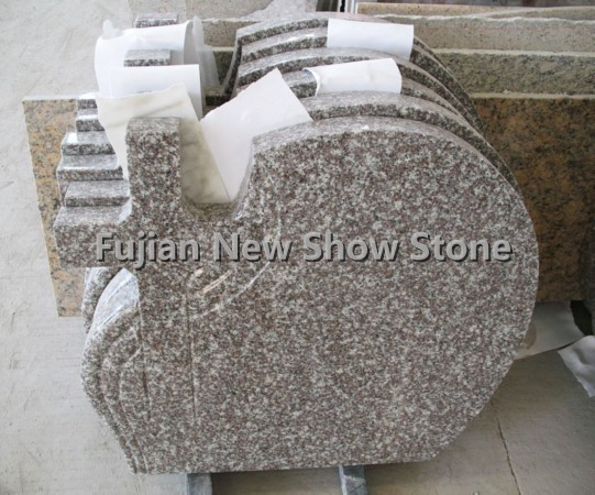 G664 polished granite tombstone