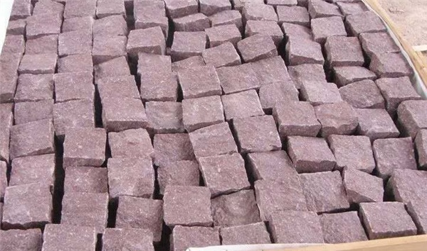 G666 Red Granite Cubes for pavings