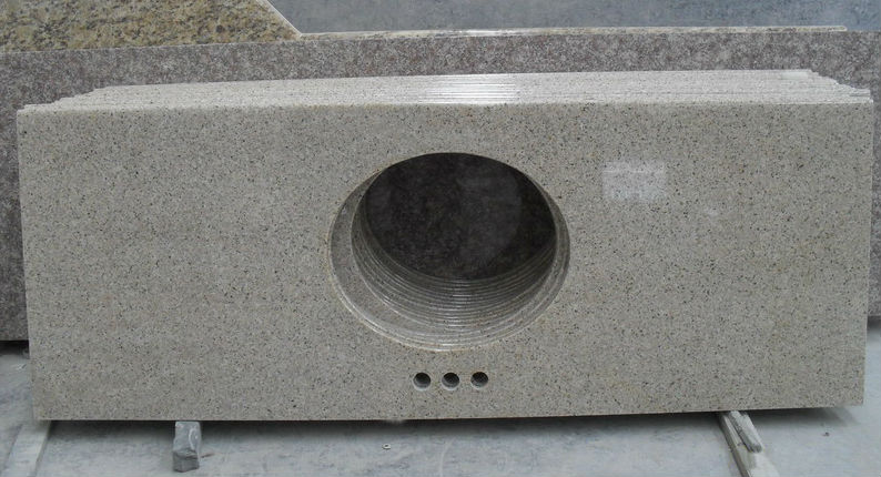 G681 Pink Red Granite Vanity Top