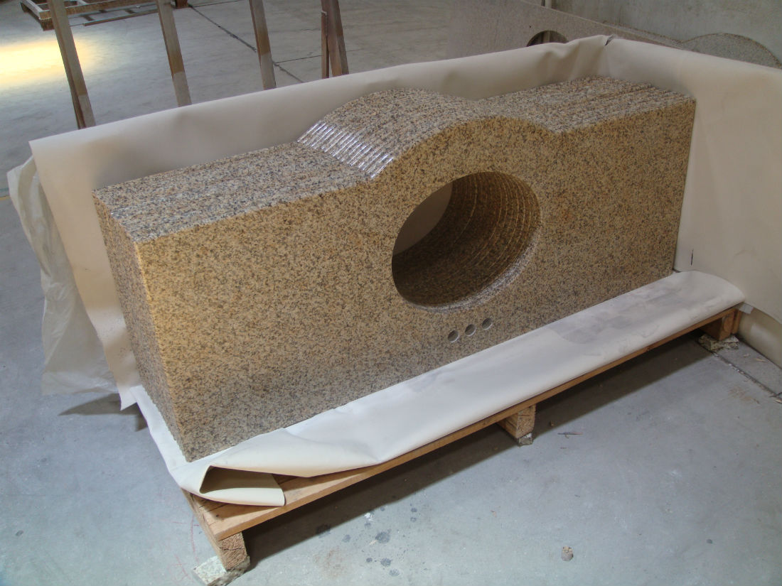 G682 Sunset Gold Granite Vanity Tops