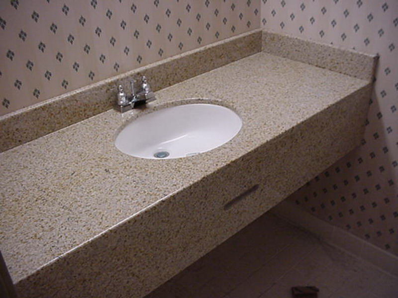 G682 China Yellow Granite Vanity Tops