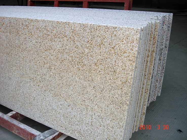 G682 Golden Peach Granite Countertop Slab