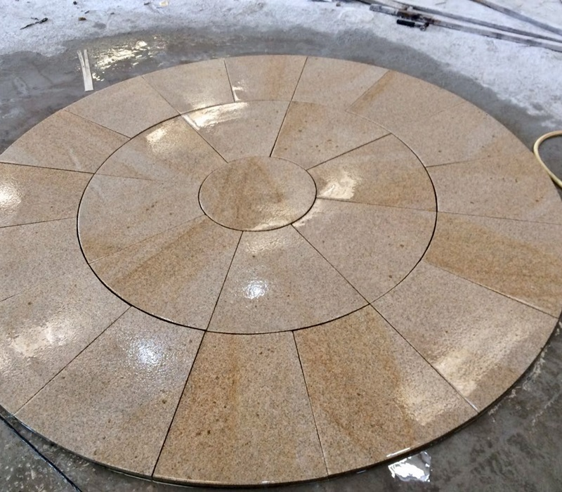 G682 Granite Round Outdoor Pavers