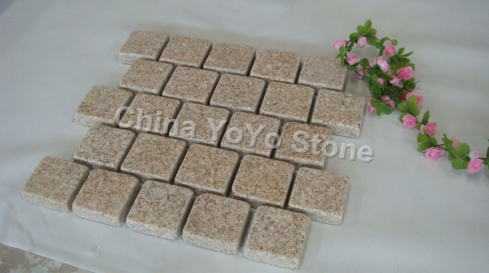 G682 rustic yellow cubestone cobble