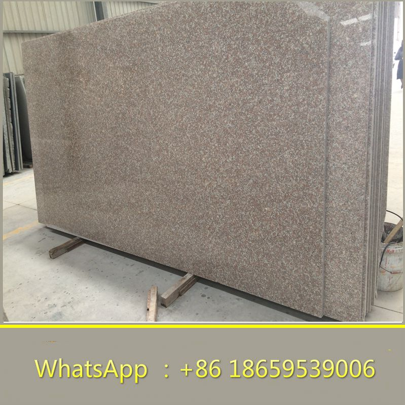 G687 china cheap peach red granite slab