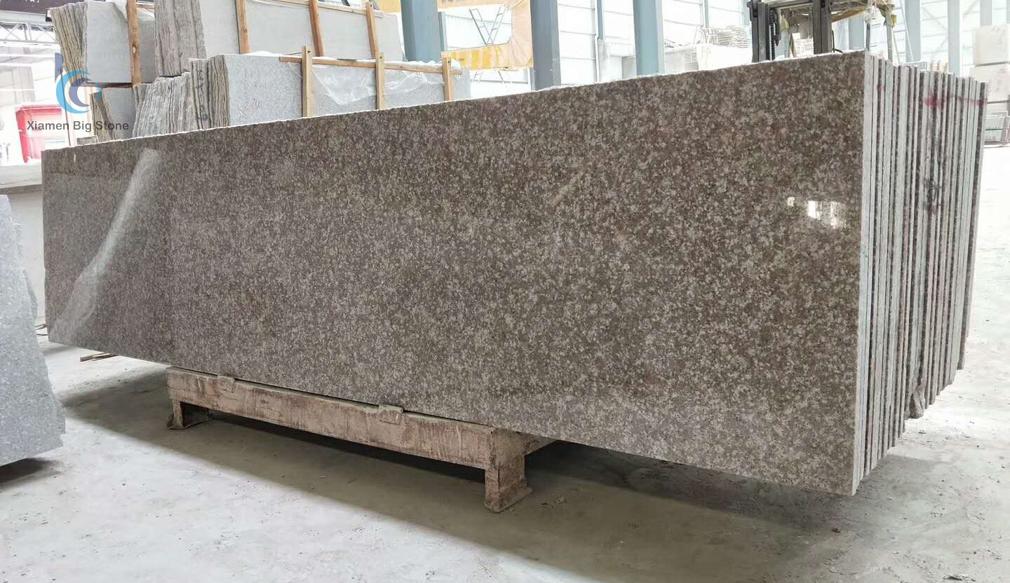 G687 Imperial Pink Granite Half Slab