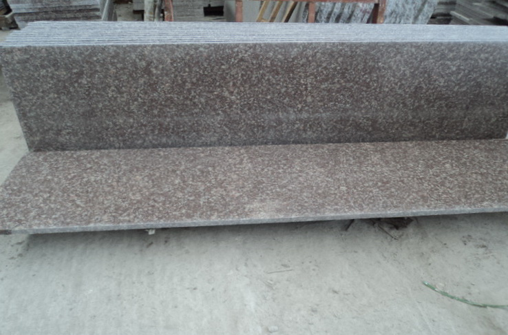 G687 peach red granite small slab