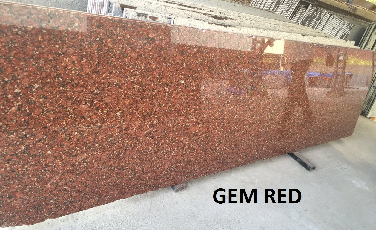 Jem Red Granite Slabs