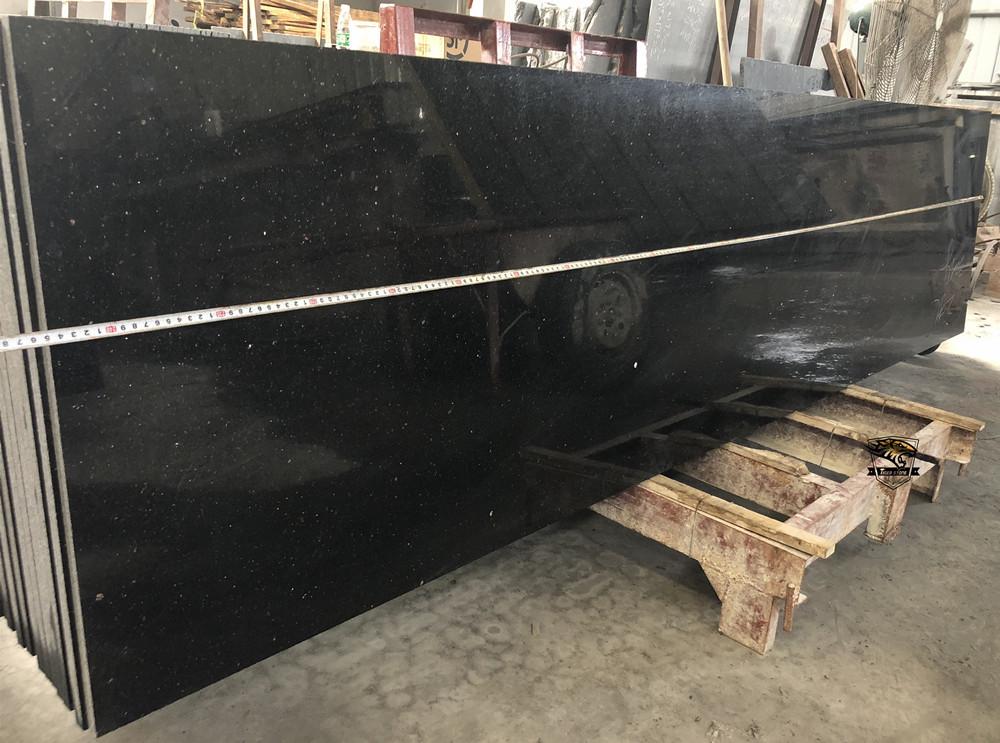 Black Galaxy Granite GF030 Kitchen Bath CounterTops with full bullnose