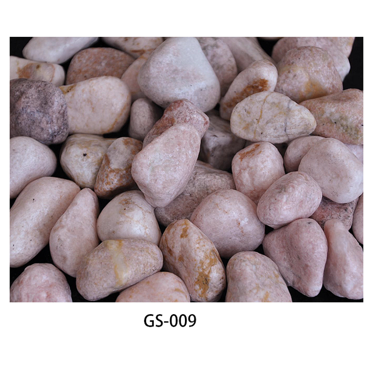 pink pebble ball stone GS-009