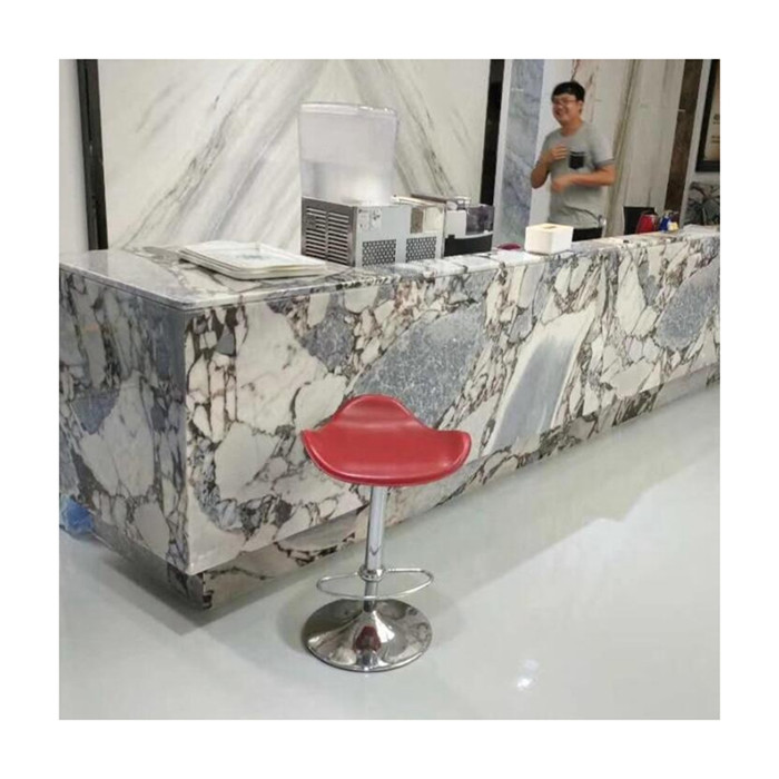 Galaxy Blue Exotic Grey Marble Reception Top