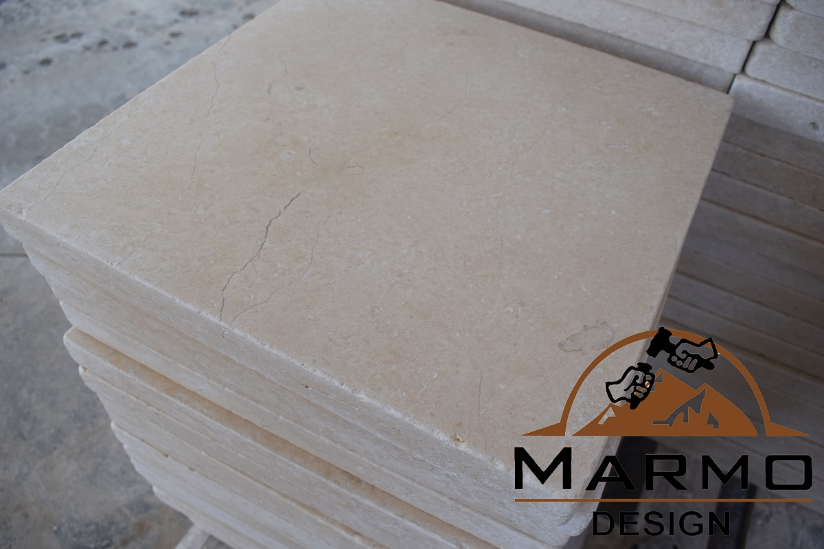 Galala Beige Tumbled Egyptian Marble Tiles