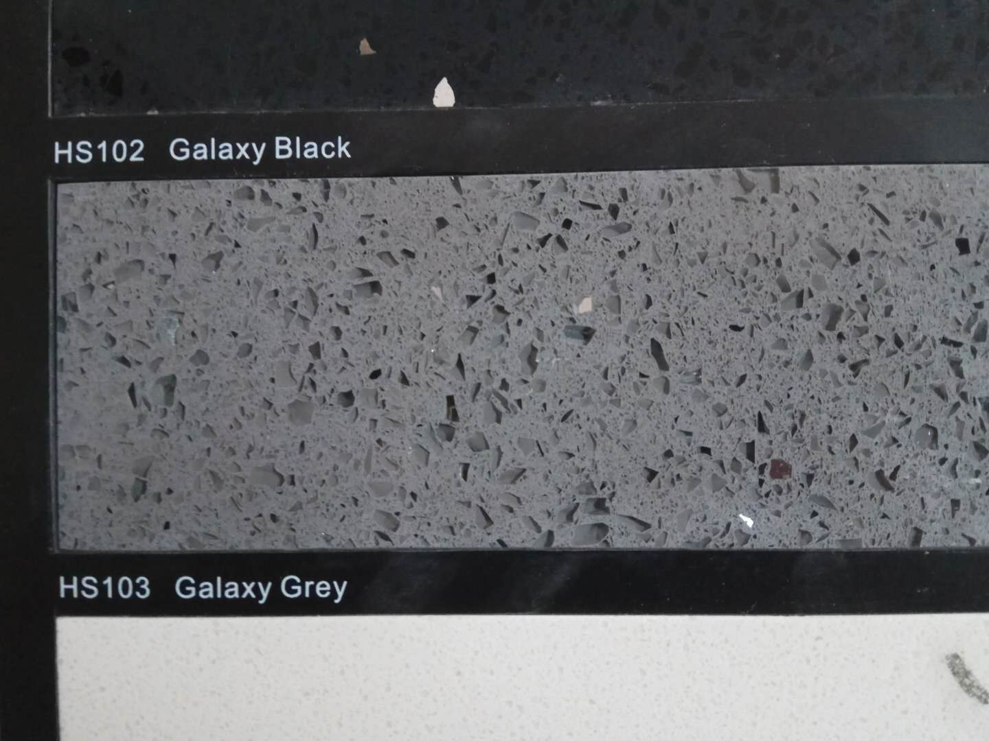 Artificial galaxy grey quartz stone