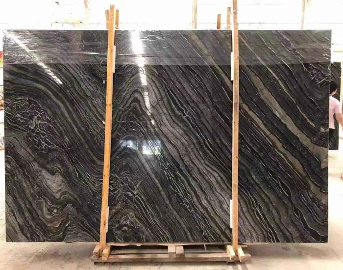 Black Wooden Marble with Golden Vein Stone