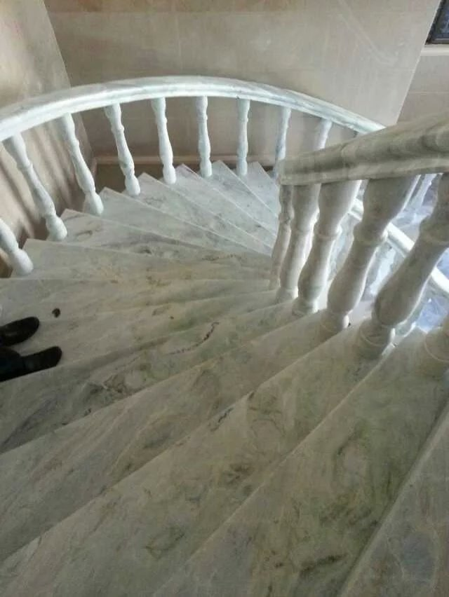 Glacier green marble stairsChinese marble