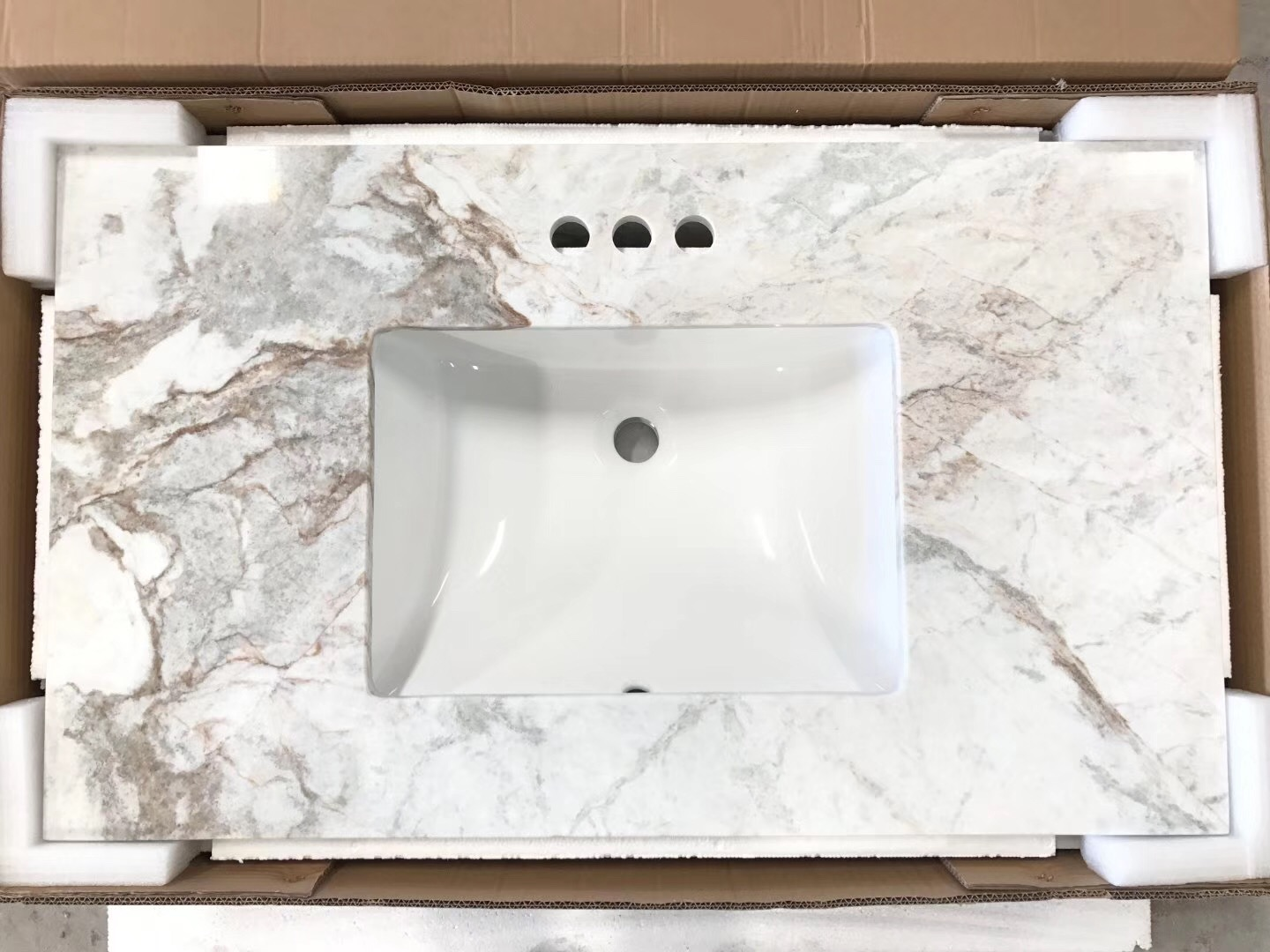 North Pearl White Marble countertop for bathroom Glorious White Marble kitchen countertop
