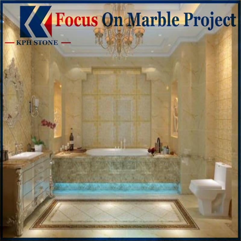 Golden Goose Marble Tile Bathroom