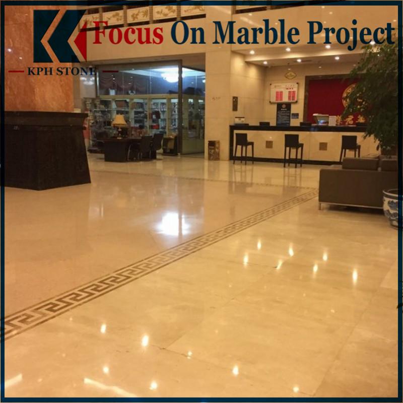 Golden Phoenix Marble Hotel Lobby Floor
