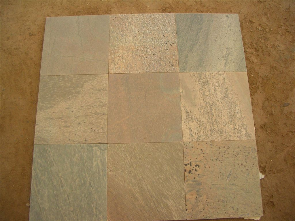 Golden Polished Slate Tiles