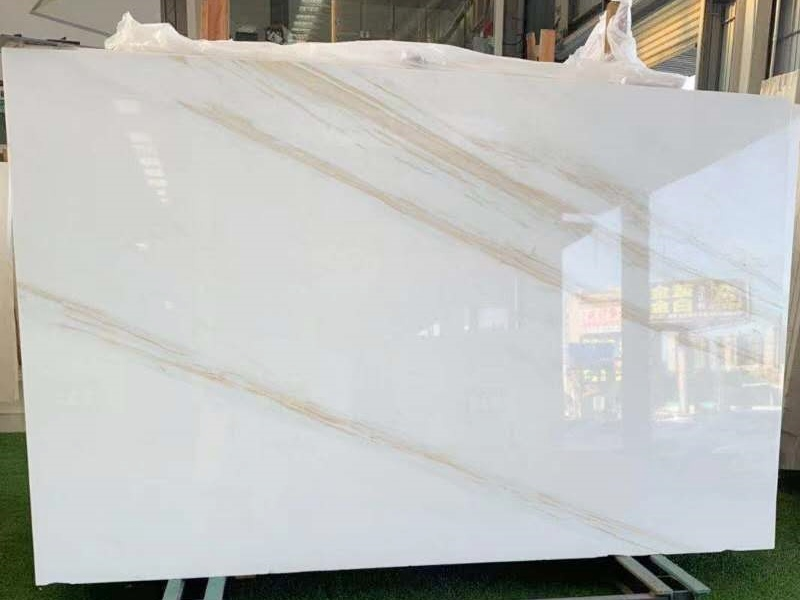 Golden Silk Ariston White Marble Ariston White with Gold Veins
