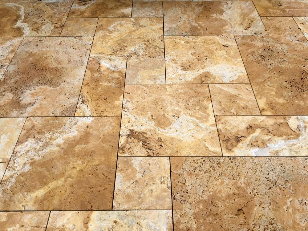 Golden Yellow Travertine Pattern Set