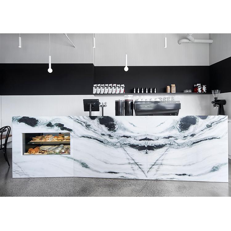 Panda White Marble Kitchen Countertop