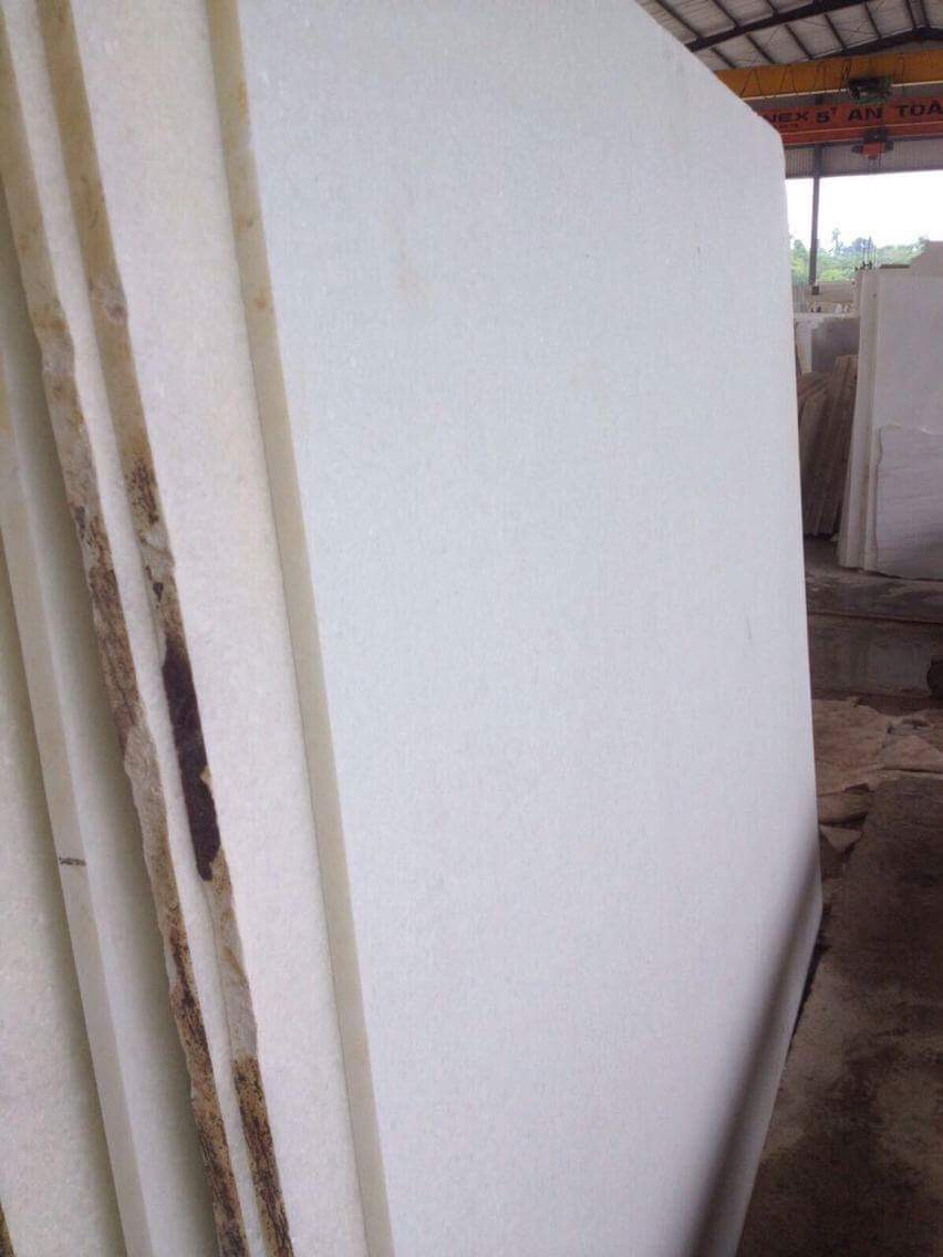 PURE WHITE MARBLE GANGSAW SLAB POLISHED