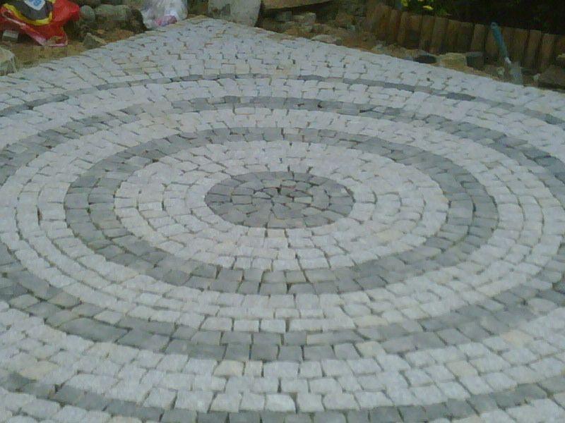 Natural granite cube stone