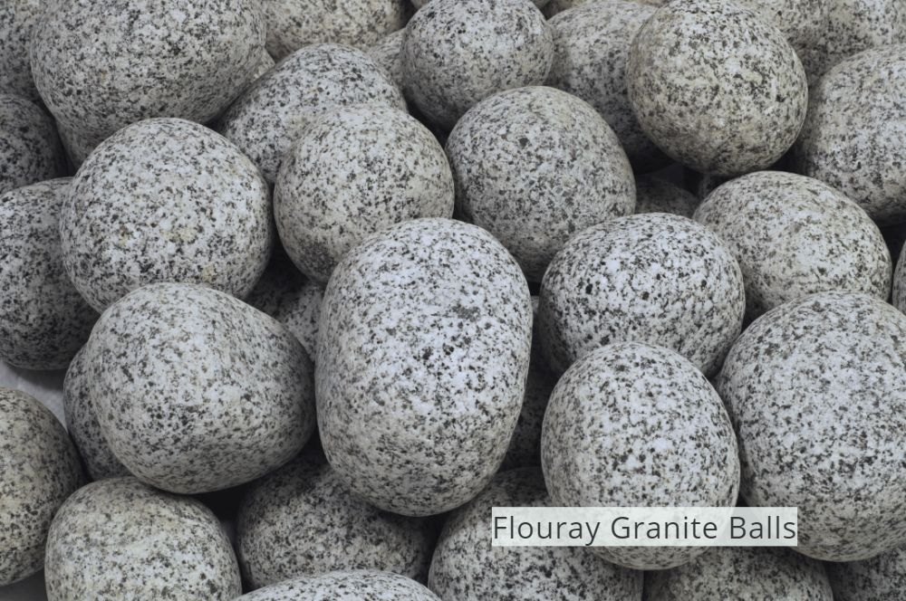 Grey Granite Pebbles  Flouray Granite Balls
