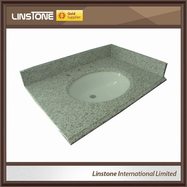 China wholesales grey bathroom vanity top