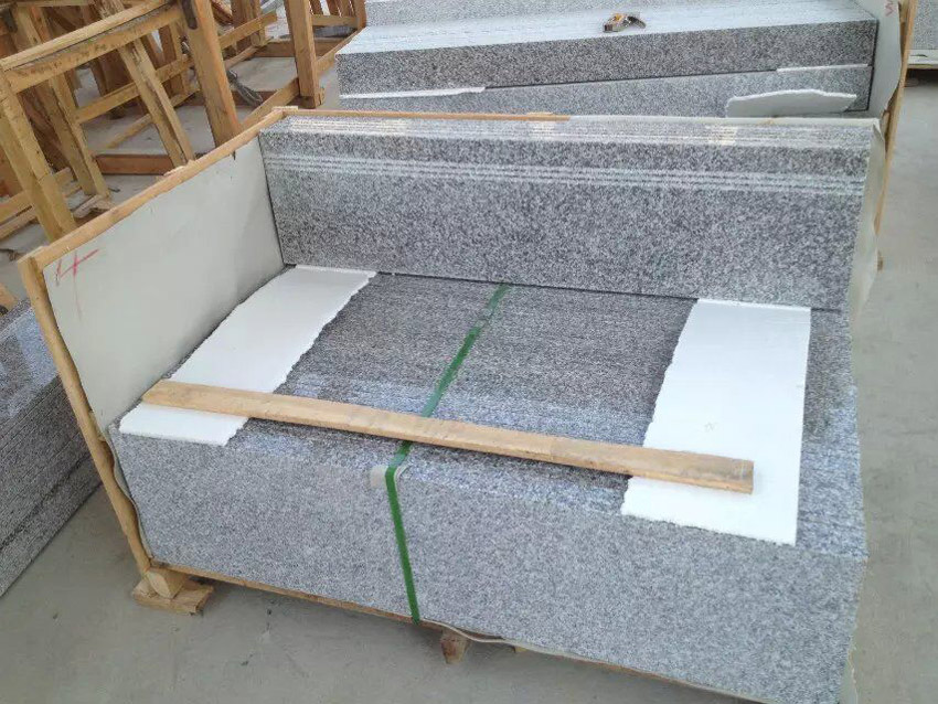 light grey granite new G603 stairssteps