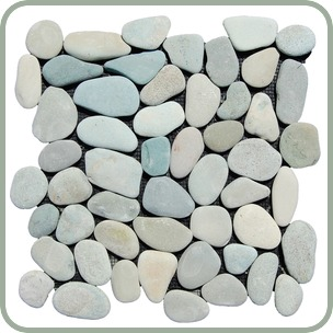 Green Pebbles Mosaic Green Natural Pebble Stone Bali Garden Pebble Stone Mosaic