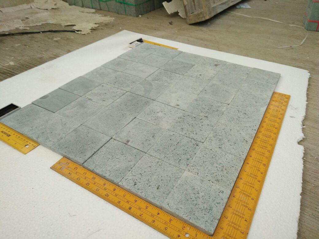 Sukabumi Green Stone Tiles Honed Pool Coping Dry Condition
